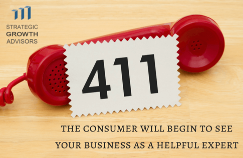 The consumer will begin to see your business as a helpful expert
