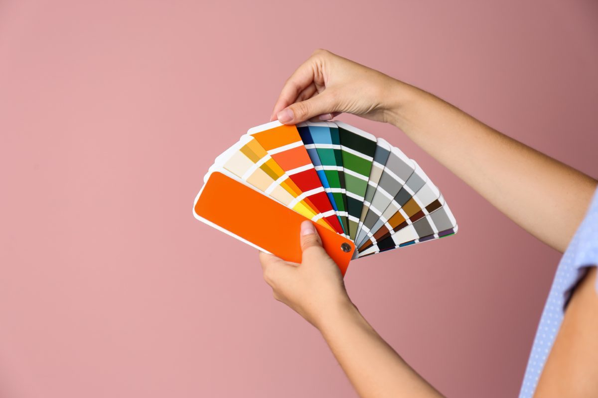 A color wheel to help pick which colors you should use for your brand